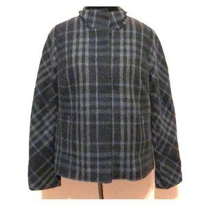 Talbots Plaid Wool Blend Blazer